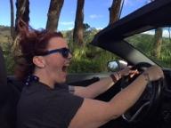 Driving the Mustang Convertible to Poipu Beach!